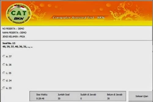 Download Simulasi CAT untuk Tes CPNS 2014