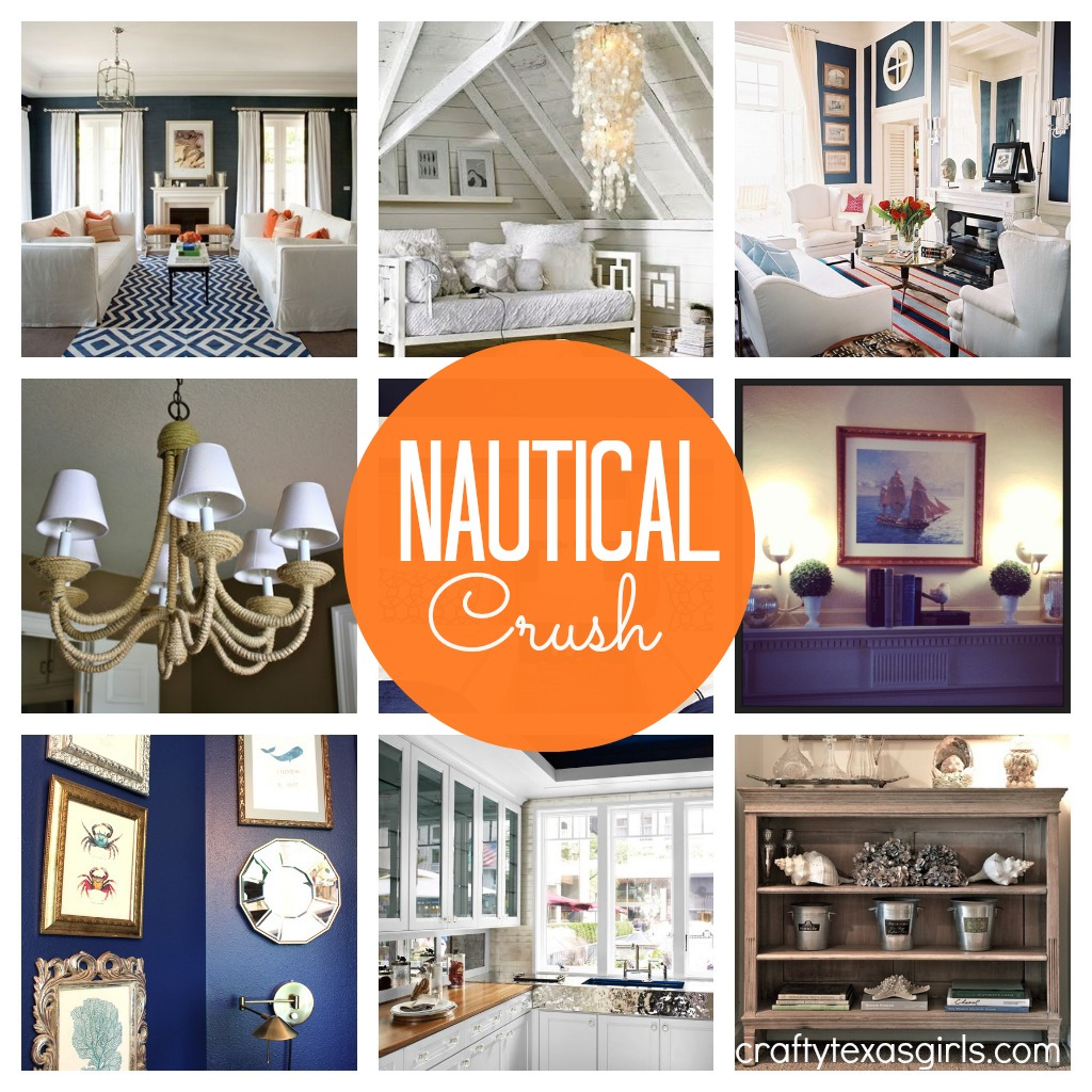 Crafty texas girls decor crush 9 nautical ideas a winner for Texas decorations for the home