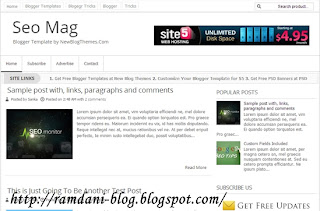 Free Download Templates Blogger Seo Friendly