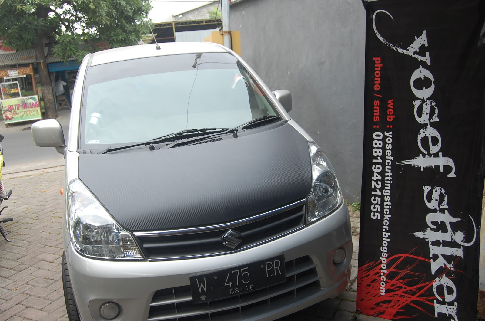 CUTTING STICKER KAP MESIN KARBON KEVLAR 3D