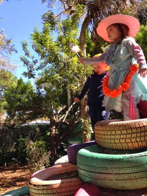 tire tower, childrens garden sarasota