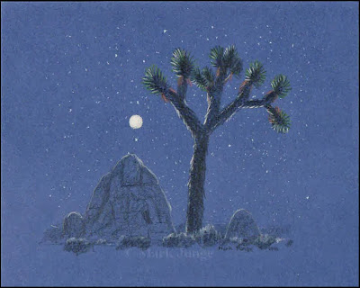 art, drawing, drawings, desert, Mojave, Joshua tree