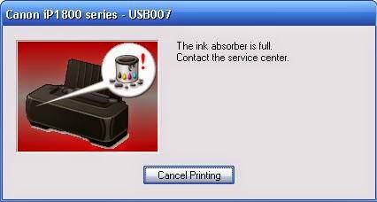 Cara Reset Printer Canon IP1880 dan IP1980
