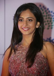 Actress Rakul Preet Singh Latest Pictures in Long Dress at Memu Saitam Dinner with Stars Red Carpet 12
