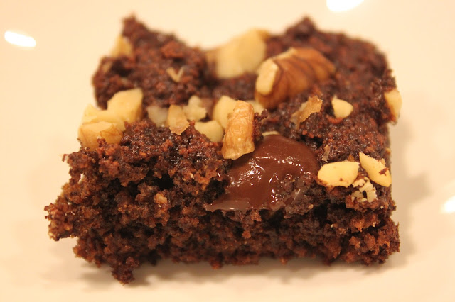 coconut flour, dark chocolate, walnuts