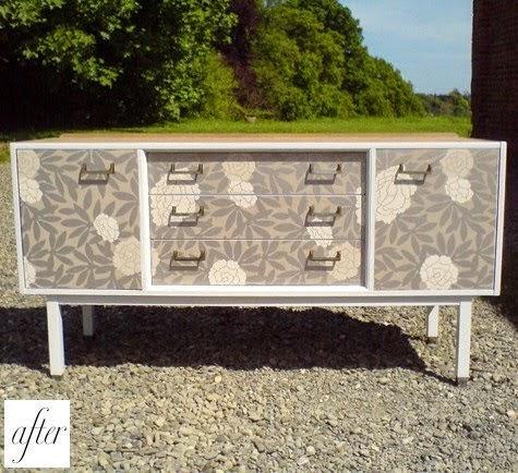Blog de decora o arquitrecos renova o de m veis com - Papel para empapelar muebles ...