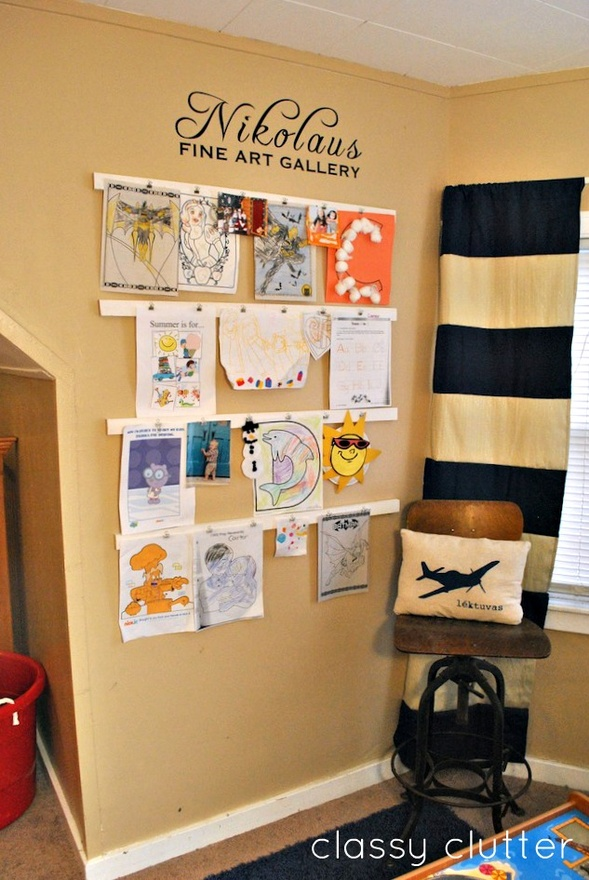 Lookie what i did creative ways for displaying and saving for Creative ways to display artwork