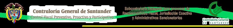 Subcontraloría Delegada para Responsabilidad Fiscal - Contraloría General de Santander