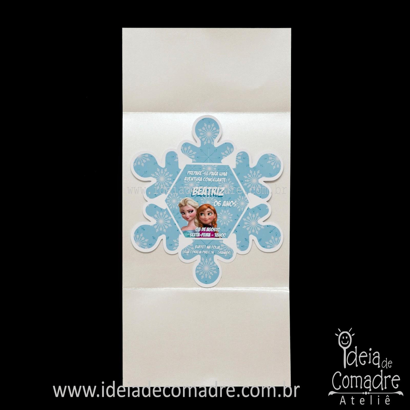 frozen convite
