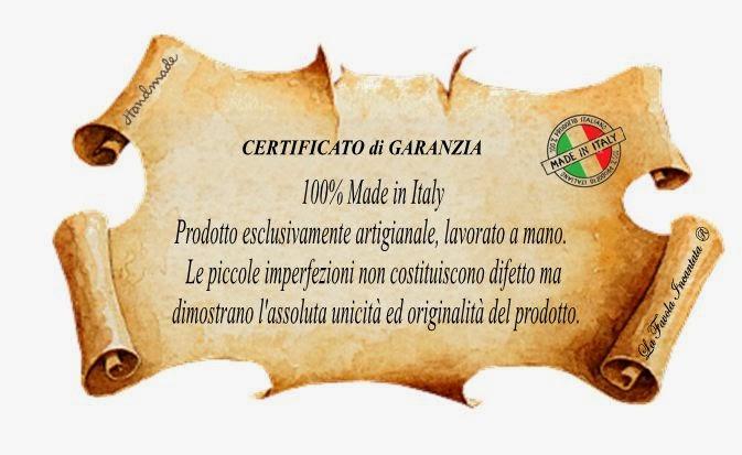 Certificato di Garanzia ed Originalità