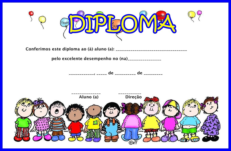 Diplomas e certificados para formatura infantil - parte 6