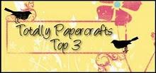 Meine Erdbeer-Karte ist zur Top 1  der Totally Papercrafts Challenge gewählt worden