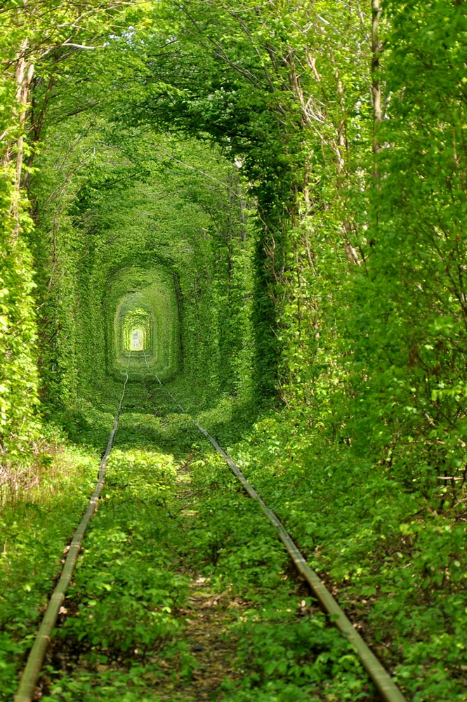 Klevan Ukraine Fairy tale love tunnel
