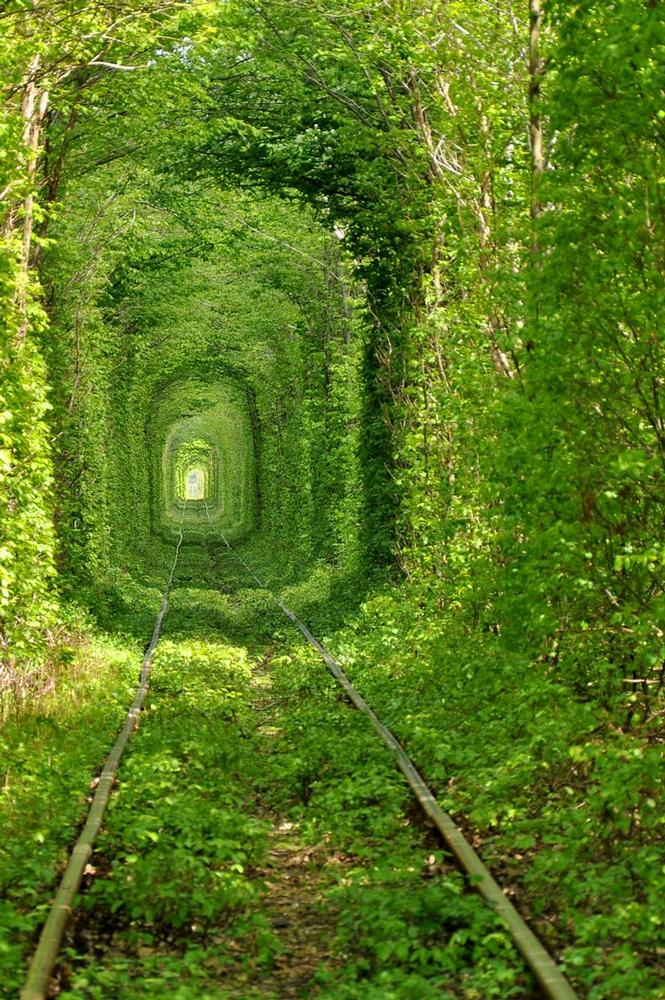 Klevan Ukraine Fairy tale love tunnel