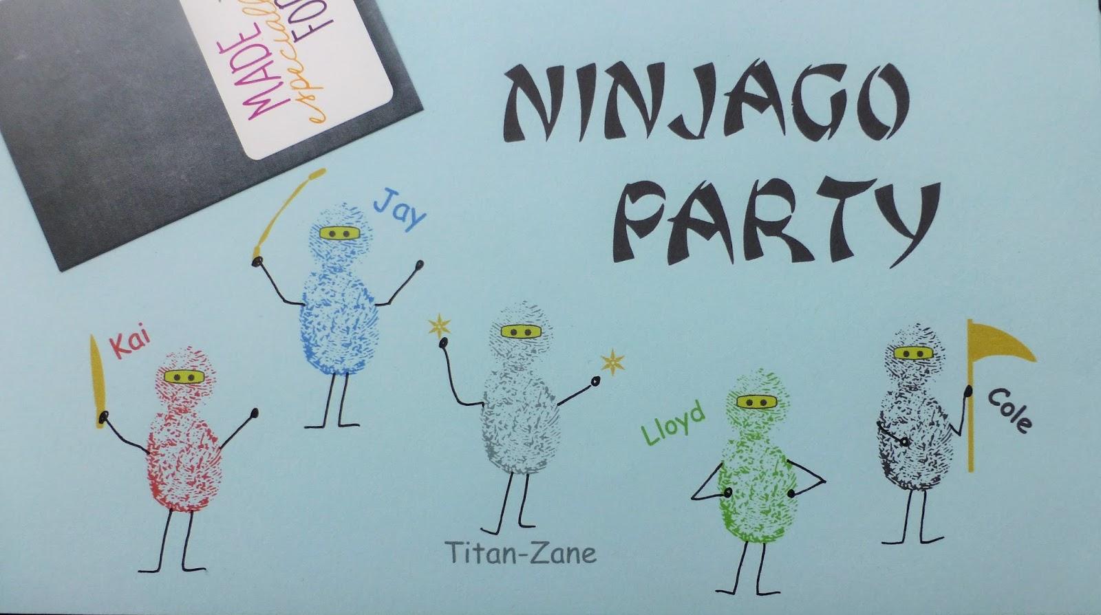 jono für die liebsten: creadienstag - ninjago-einladungen mal, Einladung