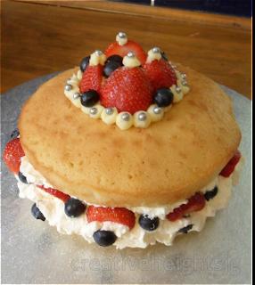 Strawberry Jubilee Cake
