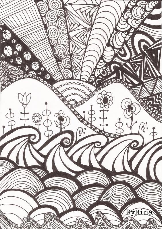 Zen Line Art : Bynina d zen desenho capítulo