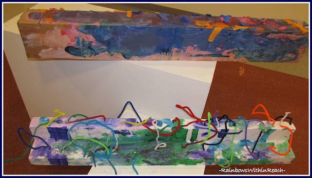 photo of: Three Dimensional Exploration with Found Objects in Early Childhood Classroom for Art + Media