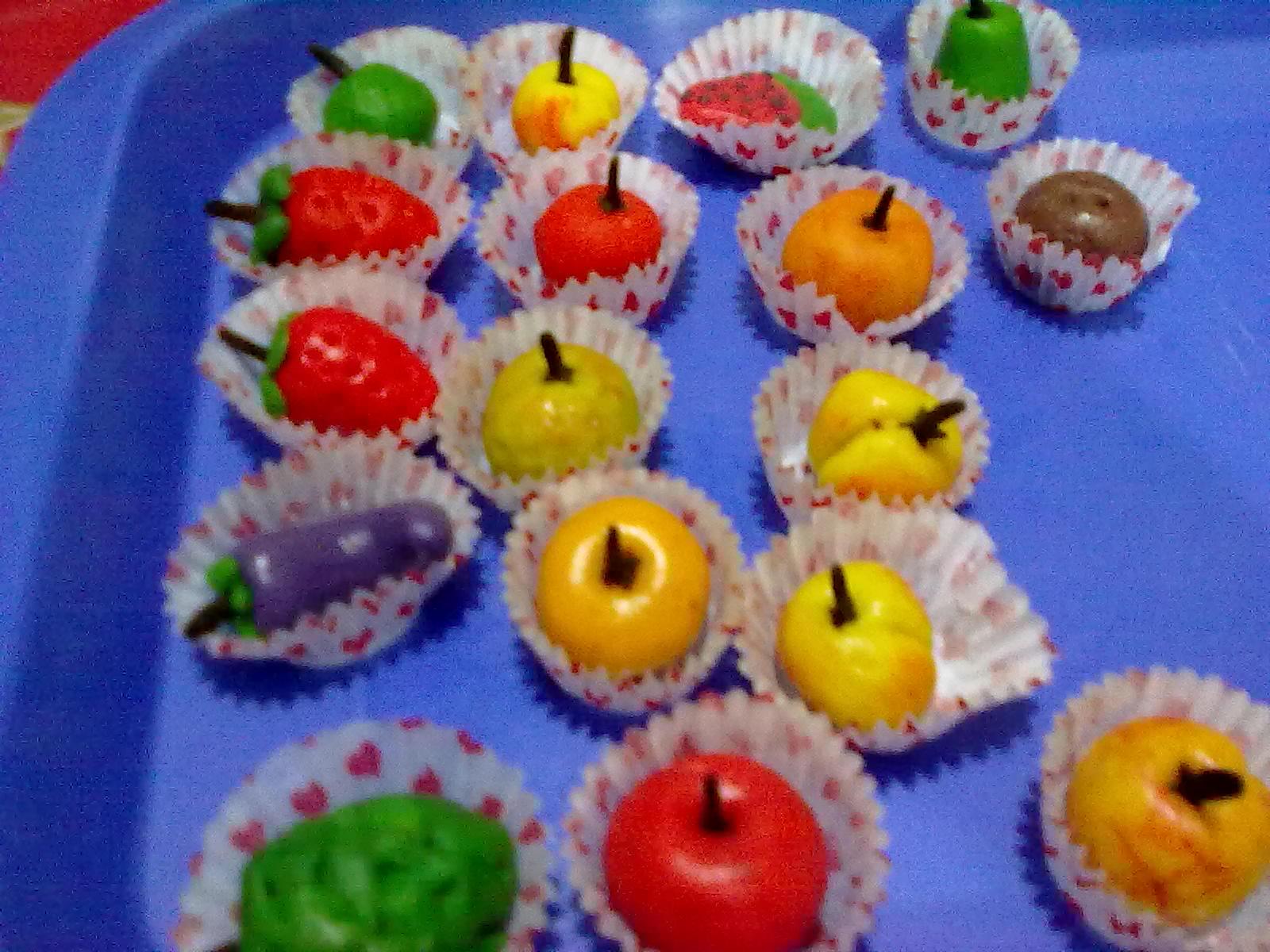 frutitas de mazapan receta