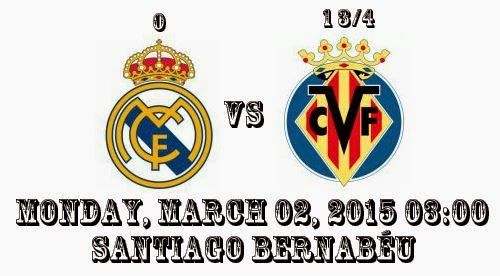 Real Madrid vs Villarreal La Liga Spanyol 2015