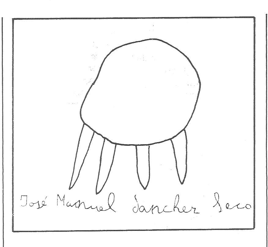 dibujo realizado por uno de los niños