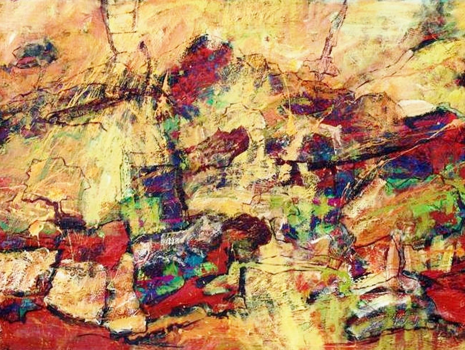 Im genes arte pinturas pinturas abstractos modernos al leo for Fotos de cuadros abstractos al oleo