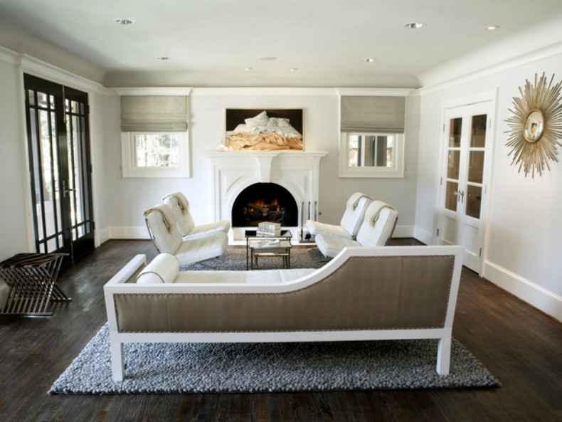 modern coastal white living room
