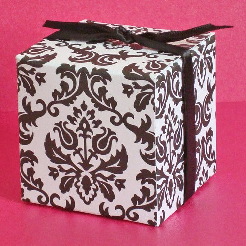 Black And White Damask Favor Boxes : Your one stop wedding centre gifts deco favors and