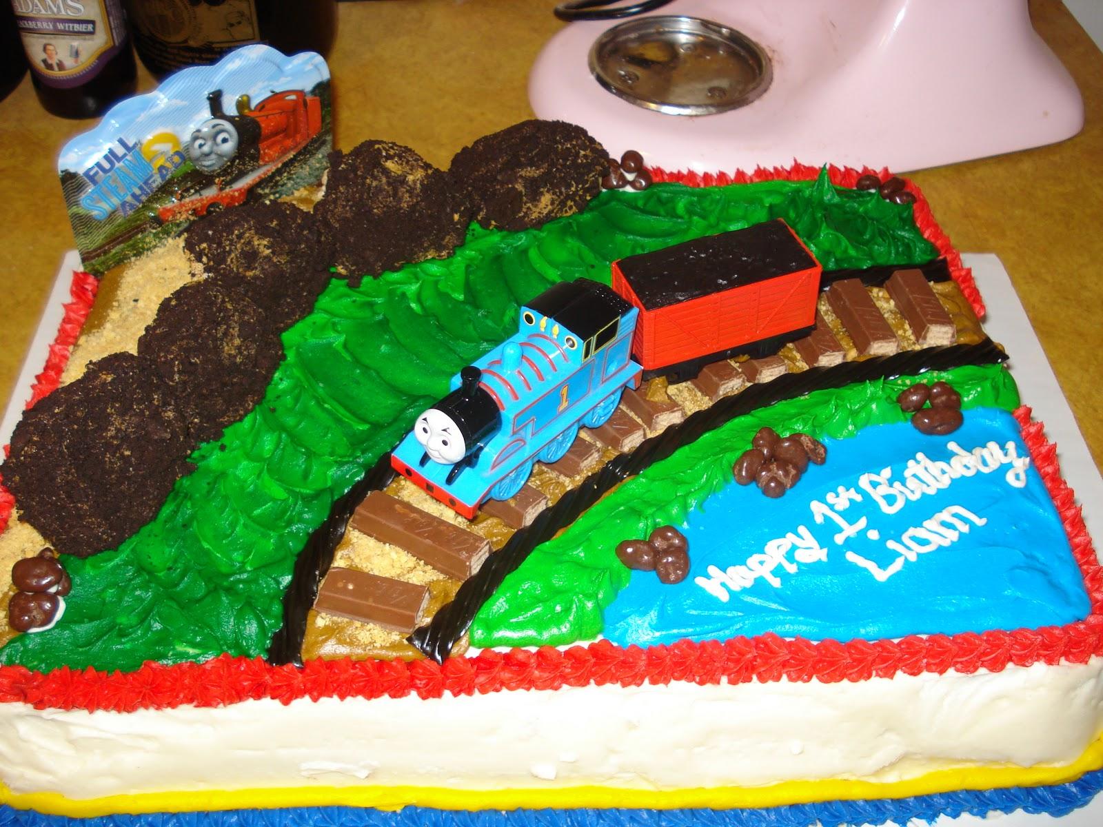C B Creations Thomas The Train 1st Birthday Cake