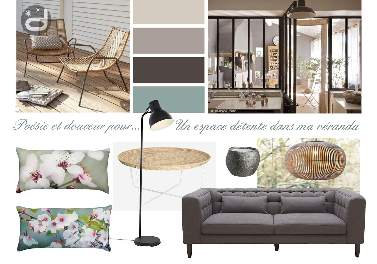 divin 39 id le blog d co planche d 39 ambiance pour un salon v randa a mood board for a. Black Bedroom Furniture Sets. Home Design Ideas