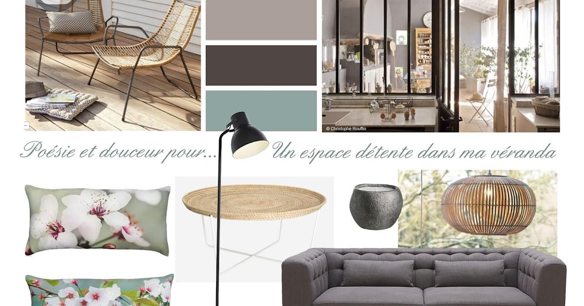 Divin 39 id le blog d co planche d 39 ambiance pour un salon v randa a mood board for a - Planche d ambiance ...