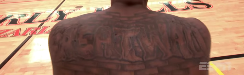 Hip hops john wall gets 2 new tattoos entire front covered for John wall tattoo