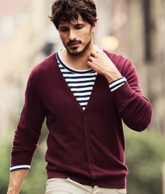 Man in Marsala Sweater