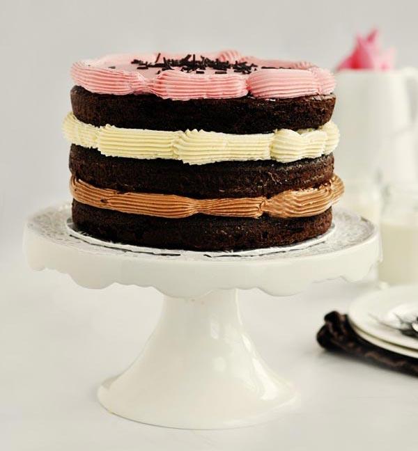 Neapolitan Ice Cream Cake Tasty