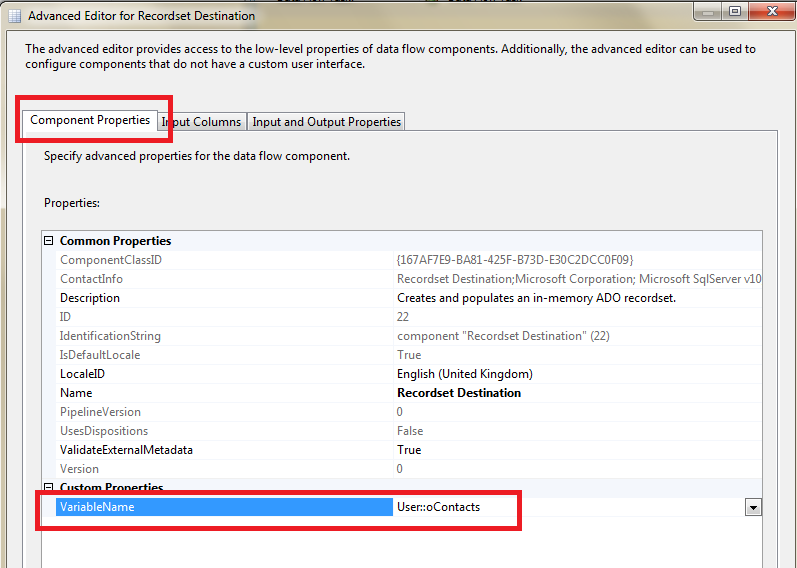 How to Loop through each record in a SSIS in-memory ADO Recordset Table 4
