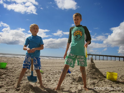 Boys on the beach in Ocean City, NJ