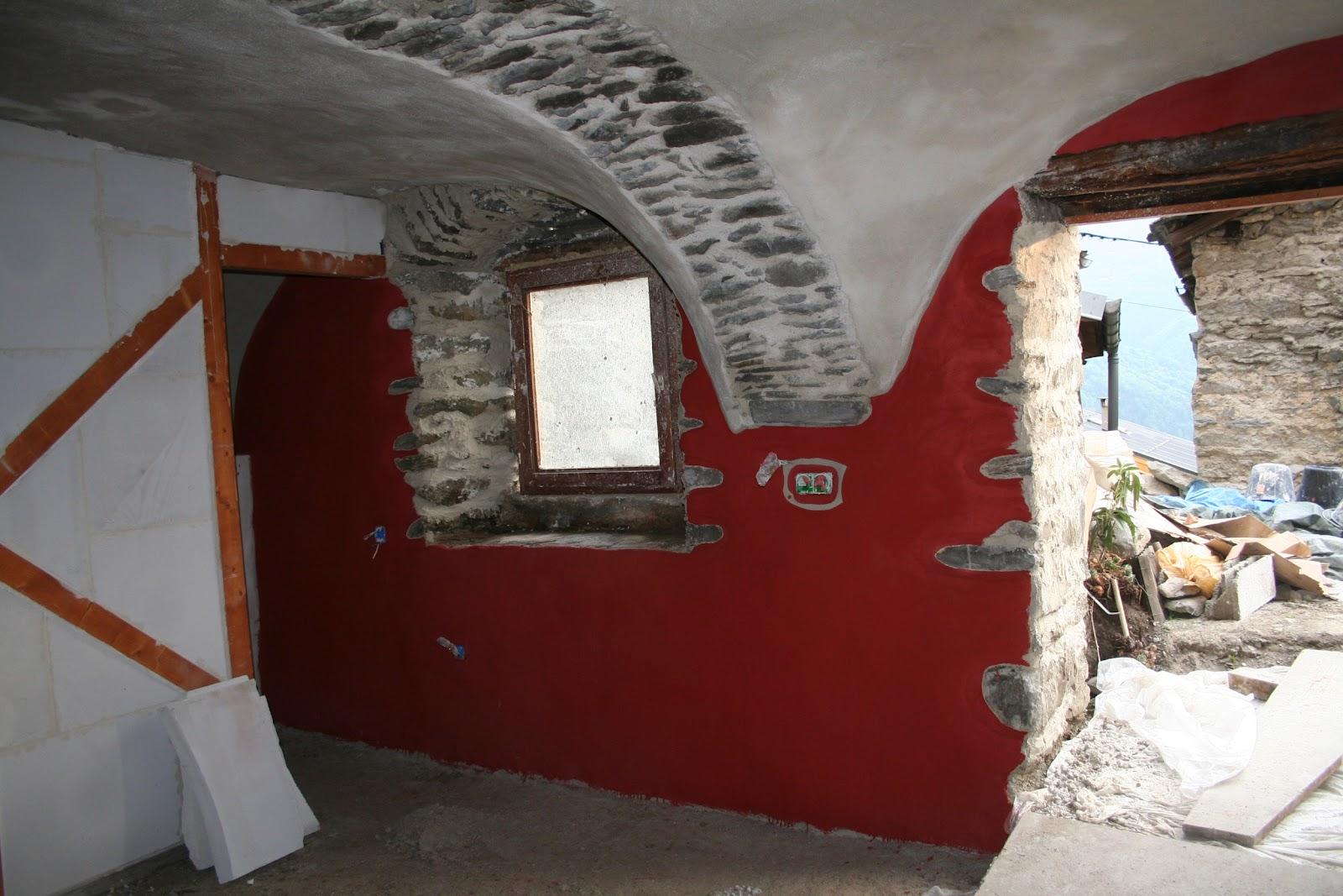 r novation au thyl dessous enduit de finition et badigeon la chaux. Black Bedroom Furniture Sets. Home Design Ideas