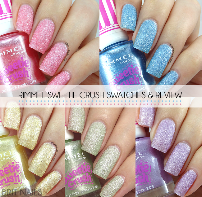 Rimmel Sweetie Crush Swatches