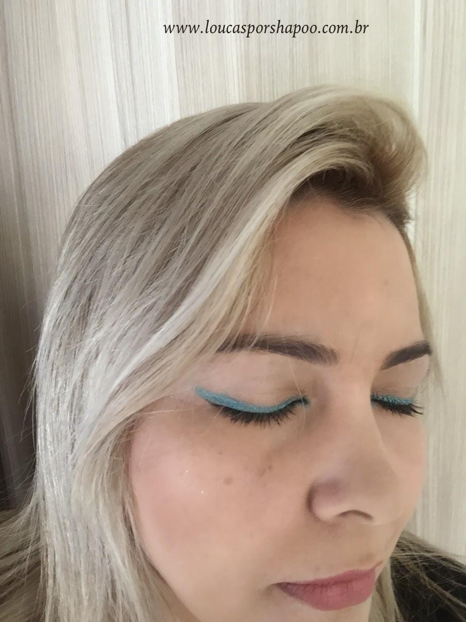 loucasporshampoo makeup ombre sombra azul trio Baked elke
