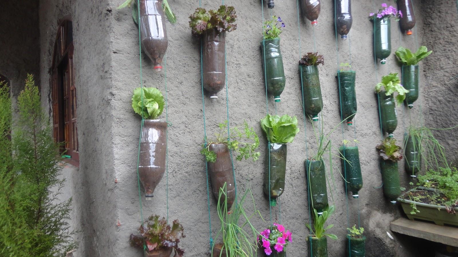 jardim vertical de garrafa pet passo a passo: um video que mostra todo o passo a passo,vocês podem ver ficou legal