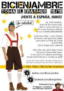 Cartel del Bicienjambre 10-10, ¡Toma el Erasmus!