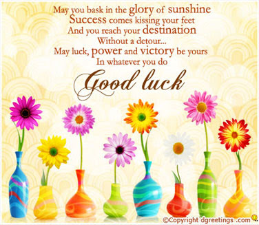 Best of Luck On Your Mid-year Examination 2013