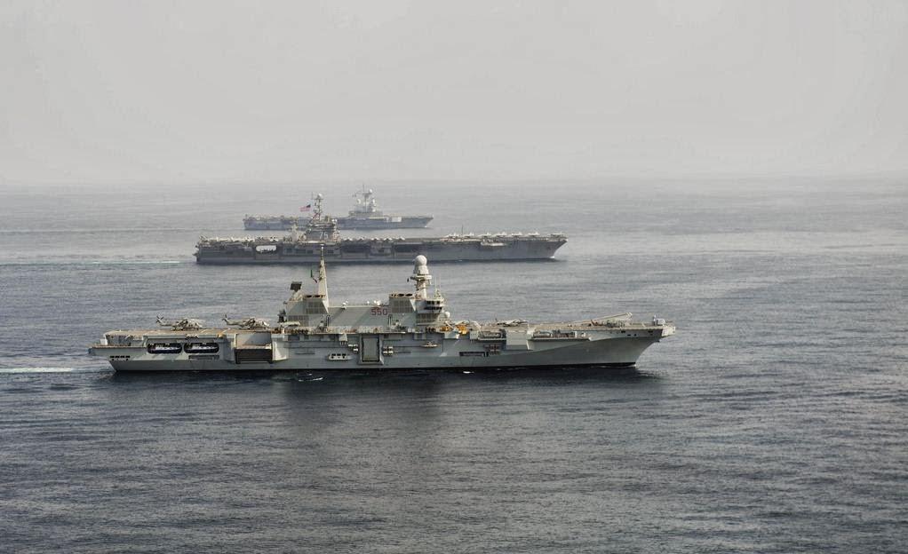 Kapal induk Italia, AS dan Perancis