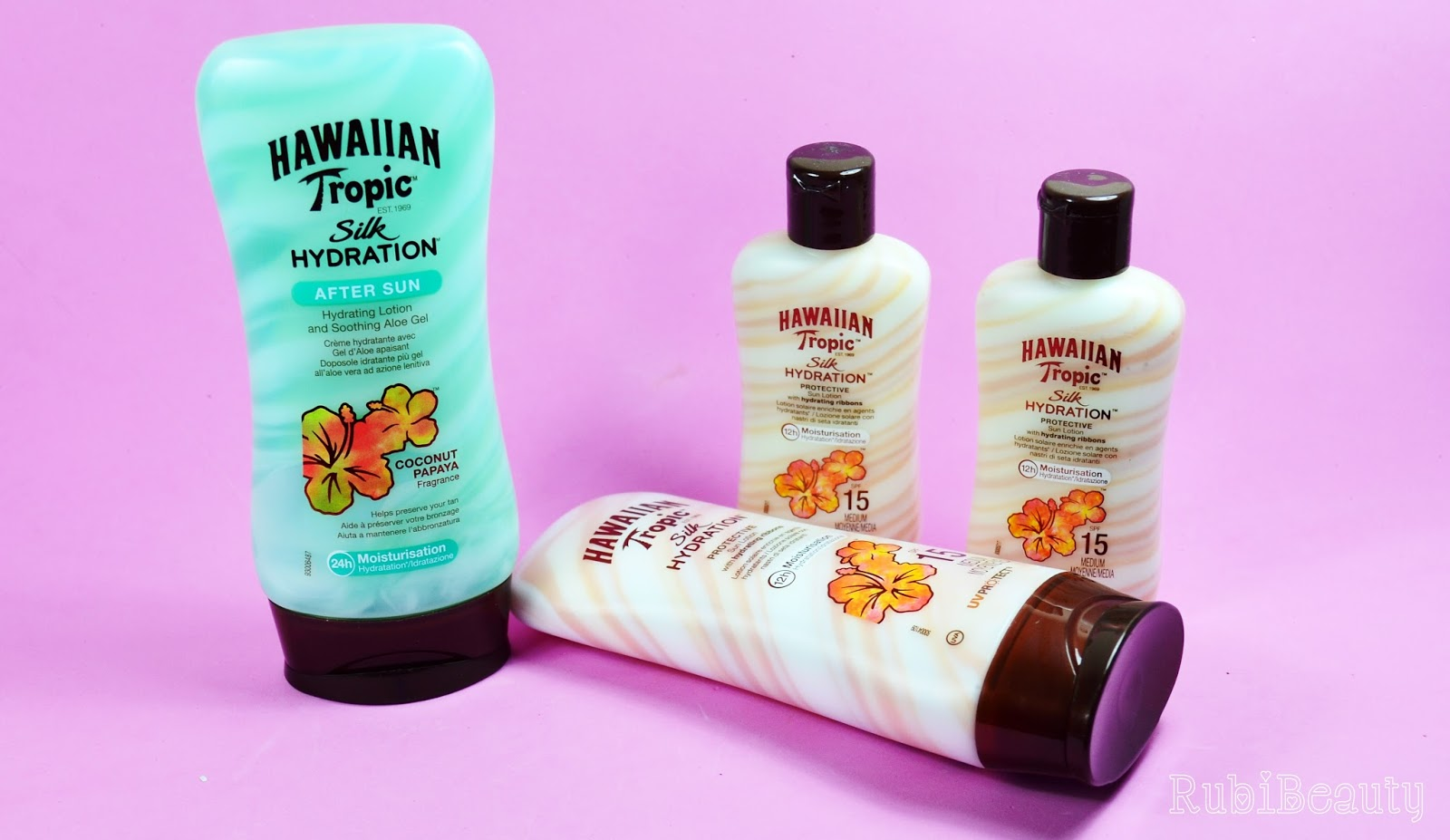 rubibeauty review hawaiian tropic silk hydration protector solar aftersun trnd