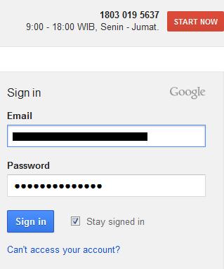 masuk adwords dengan menggunakan akun google anda