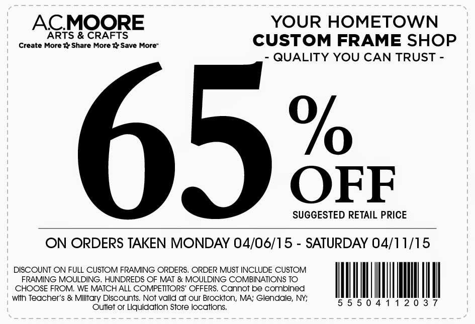 photograph regarding Ac Moore Printable Coupon called Ac moore printable coupon codes september 2018 : Specials within las vegas
