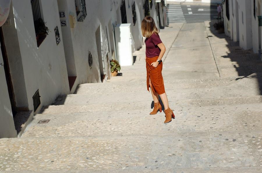 falda de pana street style