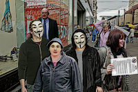 Me protesting ACTA with Anonymous