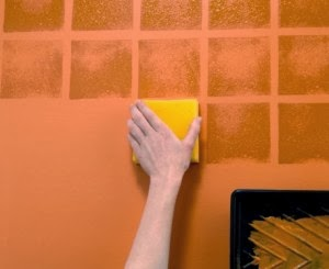 Foundation dezin decor new year renovation idea 39 s for How to sponge paint a wall without glaze