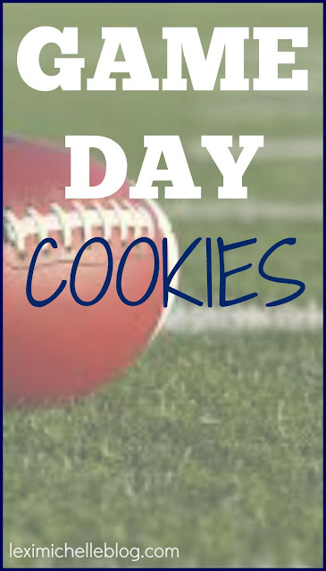 Simple & Easy white cake mix cookies for game day-- add food coloring to match your favorite team's colors!